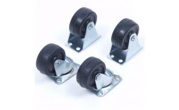 Bok- en Zwenkwielen 40mm (zwart)