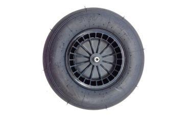 Kruiwagenwiel met kunststof velg (4,80/4,00x8, 2ply)(Zwart)