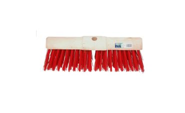 Gemeentebezem kunstvezel rood (45cm)