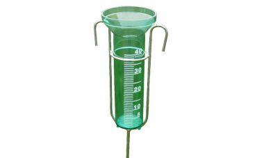 Regenmeter met metalen steel (110cm)