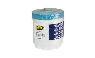 HPX Statische afdekfolie + afplakband (55cm x 20m)