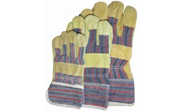 Cowsplitlederen Handschoenen (geel)