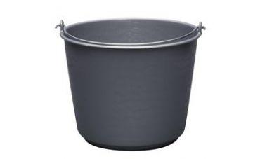 Bouwemmer kunststof grijs