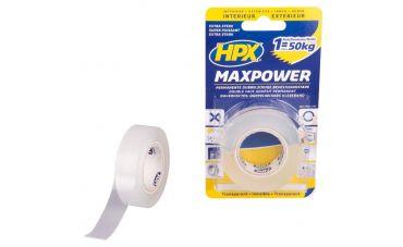 HPX Dubbelzijdig plakband MaxPower 19mm / 2m (transparant)