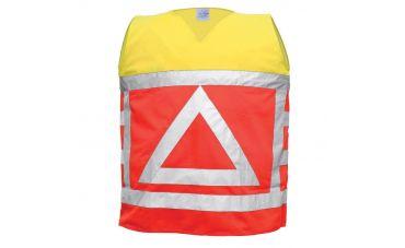 Verkeersregelaarsvest (oranje/geel)