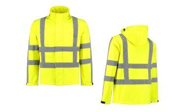 MM Softshell- Veiligheidsjack (FluoGeel)