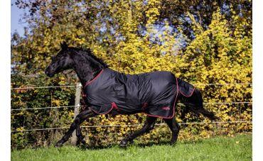 RugBe Outdoor paardendeken (zwart/rood)