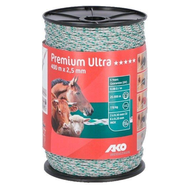 AKO Premium Ultra schrikdraad wit/oranje