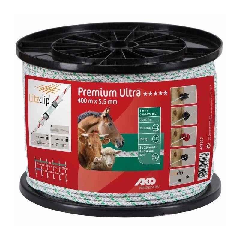 AKO Premium Ultra schrikkoord wit/groen